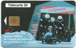 Monaco - MF50 (005) - Bobsleigh, Gem1B Not Symmetr. White-Gold, 09.1998, 50Units, 50.800ex, Used - Monaco