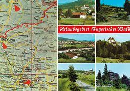 1 Map Of Germany * 1 Ansichtskarte Mit Der Landkarte - Urlaubsgebiet Bayerischer Wald * - Maps