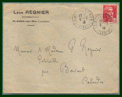 Saint Aubin Sur Mer Calvados 14 Type A4 1946 / N° 716 Seul Gandon - Marcophilie (Lettres)