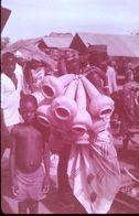 DIAPOSITIVE L'AFRIQUE DE L'ATLAS AU GOLF DE GUINEE L'AFRIQUE NOIRE Paniers à Mil - Diapositive