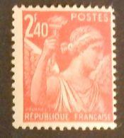 FRANCE TYPE IRIS YT 654 NEUF**  ANNÉE 1944 - 1939-44 Iris