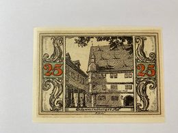 Allemagne Notgeld Arnstadt 25 Pfennig - [ 3] 1918-1933 : République De Weimar