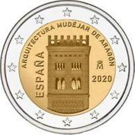 Spanje 2020   2 Euro Commemo   ARAGON    UNC Uit De Rol  -  UNC Du Rouleaux !!!! - Espagne