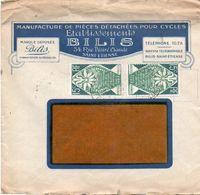 V7S Enveloppe Timbrée Exposition Paris 1925 Courrier Lettre 42 Saint Etienne Pieces Cycles Bilis Rue Désiré Claude - Marcophilie (Lettres)