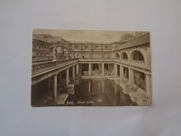 Bath. - Roman Baths + Circle Bath. (2 Cards) - Bath