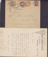 Norway SØSTRENE LARSENS HOTEL, KRISTIANIA 1903 Cover Brief BERLIN (Arr. Cds.) Germany 4-Colour Posthorn Franking - Briefe U. Dokumente