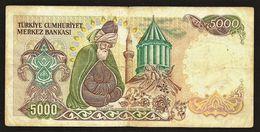 "5000 Lira ""TURQUIE""  P198   TTB Ro66 - Turchia"