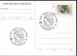 55834 Italia, Stationery Card Tarif A(priority Mail) Leonardo Da Vinci Drawings Of A Woman Special First Day Postmar - Arte