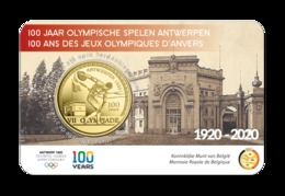 Belgie 2020  2,5 Euro  100 Ste Verjaardag Van De Olympische Spelen In Antwerpen - Anvers  In De Coincard !!! - Bélgica
