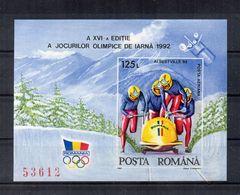 ROMANIA - 1972- B.F. - Giochi Olimpici Albertville 92 - Nuovo ** - Numerato - (FDC22845) - Invierno 1992: Albertville