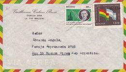 GUILLERMO CALERO. BOLIVIE COMMERCIAL ENVELOPPE, CIRCULEE CIRCA 1969's, LA PAZ A BUENOS AIRES ARGENTINE, PAR AVION -LILHU - Bolivia
