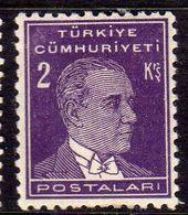 TURCHIA TURKÍA TURKEY 1931 1942 MUSTAFA KEMAL PASHA ATATURK 2k MH - 1921-... Republic