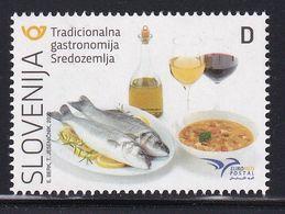 Slovenia Slowenien Slovenie 2020: MINT MNH ** Euromed Postal Gastronomy Food; Wine Vine Vino Jota Extra Virgin Olive Oil - Ernährung