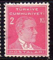 TURCHIA TURKÍA TURKEY 1953 1956 MUSTAFA KEMAL PASHA ATATURK 2k USATO USED OBLITERE' - 1921-... Republic