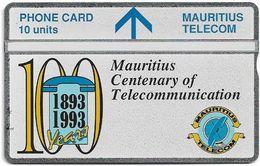Mauritius - L&G - Mauritius Telecomm. Centenary - 310A - 10.1993, 10Units, 12.000ex, Mint - Maurice
