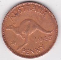 Australie 1 Penny 1943, George VI. KM# 36 - Moneda Pre-decimale (1910-1965)