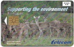 Mauritius - Chip - Mauritian Deer, Gem2 Black, 1998, 25U, 30.000ex, Used - Maurice