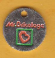 Jeton De Caddie En Métal - Mr. Bricolage - Grande Surface De Bricolage - Magasin - Revers 1€ - Gettoni Di Carrelli