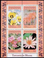 Tansania, 1986, 324/27 Block 57, MNH **,  Flowers. - Tanzania (1964-...)