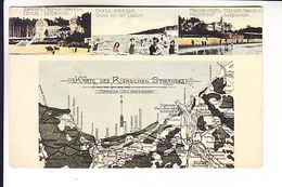 LATVIA RIGAS JURMALA RIGASCHEN STRAND MAP POSTED ASSERN - MOSCOW 1912 - Latvia