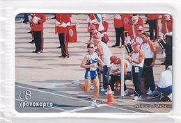 GREECE - Nikos Polias/Athletics, Amimex Prepaid Card 8 Euro(807 8075), Tirage %5000, Mint - Griechenland