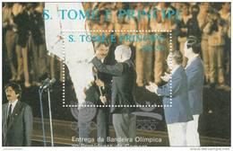 Santo Tome Y Principe Hb 63D Y 63E Plata - Summer 1992: Barcelona