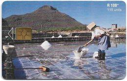 Mauritius - Chip - Salt Pans, Gem5 Black, 04.2001, 115U, 40.000ex, Used - Maurice