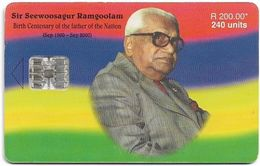 Mauritius - Chip - Sir Seewoosagur Ramgoolam, SC7, 09.2000, 240U, 30.000ex, Used - Mauritius