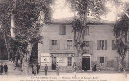 CPA (11)  CHALABRE Maison ALBERT Et Cours Sully Devanture Magasin (2 Scans) - France