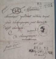 LETTRE 1830 - 81 ROCHECHOUART Pour CHAMPAGNE - DEB. 15 ANGOULEME - 1D Annulé - 1801-1848: Précurseurs XIX