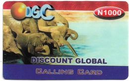 Nigeria - DGC - Elephants, Remote Mem. 1.000₦, Used - Nigeria