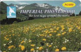 Nigeria - Imperial Telecomms - Flowers Landscape, Remote Mem. 1.000₦, Used - Nigeria