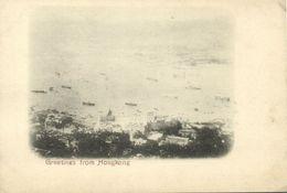 China, HONG KONG, Panorama (1899) Postcard (1) - Chine (Hong Kong)