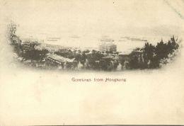 China, HONG KONG, Panorama (1899) Postcard (2) - Chine (Hong Kong)