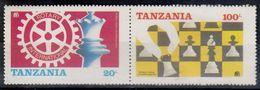 TANZANIA 313-314,unused,chess - Tanzania (1964-...)