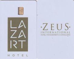 GREECE(chip) - Lazart(reverse Zeus), Hotel Keycard, Used - Cartes D'hotel