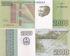 Angola - 2000 Kwanzas 2012 ( 2017 ) P. 157b VF+ Tear Lemberg-Zp - Angola
