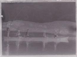 PLAQUE De VERRE (négatif Photo) PROVENANCE SENEGAL BATEAU PIROGUE - Plaques De Verre