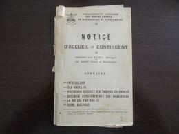 Commandement Supérieur Des Forces Armées De Madagascar Et Dépendances. Notice D'accueil Du Contingent - Livres, Revues & Catalogues