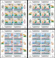 NIGER 2020 - Salt March, M. Gandhi, 4 M/S. Official Issue [NIG200122d] - Mahatma Gandhi