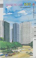 TC Ancienne JAPON / NTT 230-007 ** 105 U ** TBE - Tokyo Shinjuku - Peinture - JAPAN Front Bar Phonecard Balken TK - Japan