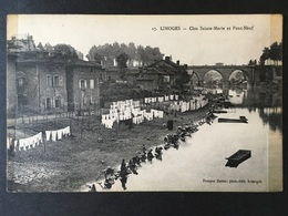"FRANCE, FRANCIA,..........."" LIMOGES ""...........Clos Ste. Marie Et Le Pont Neuf - Limoges"