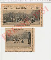 2 Scans Course De Trottinettes Esplanade Des Invalides Paris Enfants Peigne Brosse à Dents Vintage Supplice Chinois229ZQ - Alte Papiere