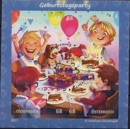 2017 Austria Mi. Bl 93 Used    Comicmarken-Puzzle (VI) - Geburtstagsparty. - Blocks & Kleinbögen