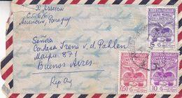 PARAGUAY ENVELOPPE, CIRCULEE CIRCA 1958's ASUNCION A BUENOS AIRES, ARGENTINE. PAR AVION RECOMMANDE -LILHU - Paraguay