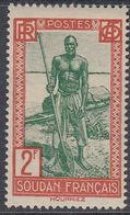 French Sudan 1938 - Definitive Stamp: Niger Boatman - Mi 94 ** MNH [914] - Sudan (1894-1902)