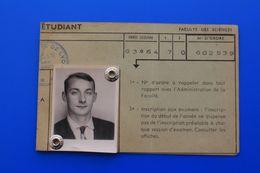 1963/64 CARTE D'ÉTUDIANT UNIVERSITÉ DE LYON-FACULTE DES SCIENCES  CHIMIE MINÉRALE -ORGANIQUE-ŒUVRES UNIVERSITAIRES - Historische Dokumente