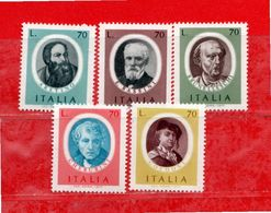 (Riz) Italia ** - 1977 -  ARTISTI ITALIANI.  Unif.1375 à 1379 - 1971-80: Ungebraucht