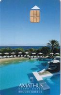 GREECE(chip) - Amathus Beach, Hotel Keycard, Used - Cartes D'hotel