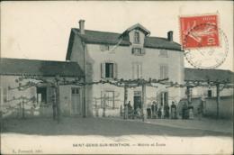 01 SAINT GENIS SUR MENTHON / Mairie Et Ecole / BELLE CARTE - Autres Communes